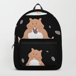 Cute Hamster Life Gift for Rodent Lover Backpack