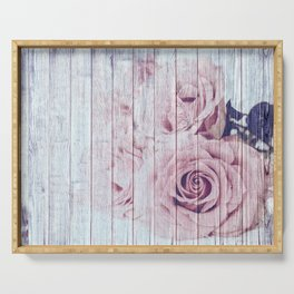 La Vie En Rose Shabby Chic Dusky Pink Rose Serving Tray
