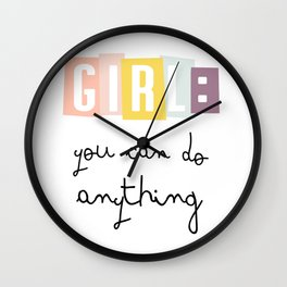 GIRL - KIDS ART Wall Clock