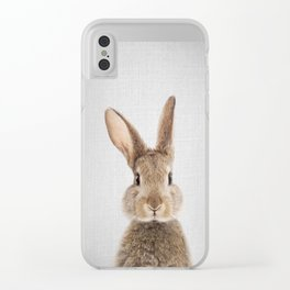 Rabbit - Colorful Clear iPhone Case