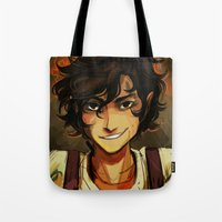 leo Tote Bags featuring Leo by viria