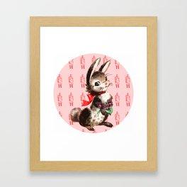 Bunny Meat Framed Art Print