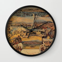 Oriental railways to Constantinople Wall Clock