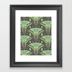 La maison des papillons Framed Art Print