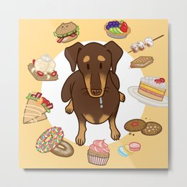 Kobe the Dobe - Kobe's hungry Metal Print