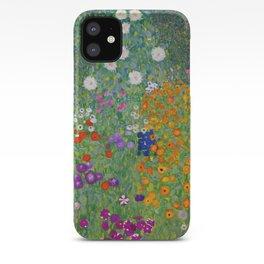 Gustav Klimt Flower Garden Floral Art Nouveau iPhone Case