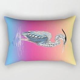 Great Blue Heron Totem Rectangular Pillow