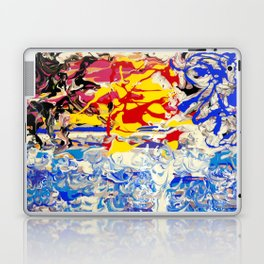 Abstract painting  - Sunset over The Sea Laptop & iPad Skin