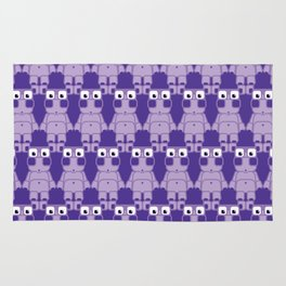 Super cute cartoon purple pig - bring home the bacon with everything for the pig enthusiasts! Rug