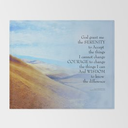 Serenity Prayer Golden Hills Throw Blanket
