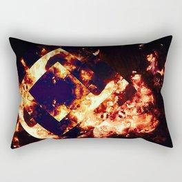 When A Fire Starts To Burn Rectangular Pillow