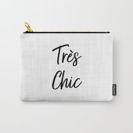 Très Chic Typography Carry-All Pouch