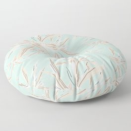 Hawaii style botanical leaves collection in pastel Floor Pillow