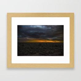 A Lotta Holes In That Desert.... Framed Art Print
