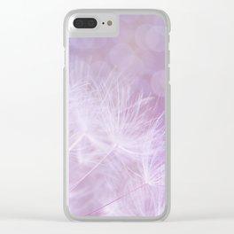 Purple Dandelions Clear iPhone Case