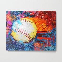 Colorful Baseball Art Metal Print