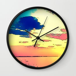 Heaven or Lies - ILL Design - Roth Gagliano Photography Wall Clock