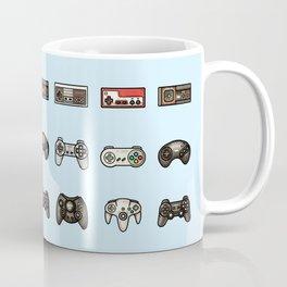 Retro Game Controllers Light Blue Coffee Mug