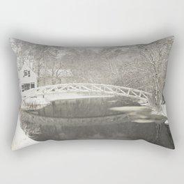 Snow Storm In Somesville, Mount Desert Island Maine Photograph Rectangular Pillow