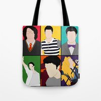 hedwig Tote Bags featuring From Harry To Hedwig by byebyesally
