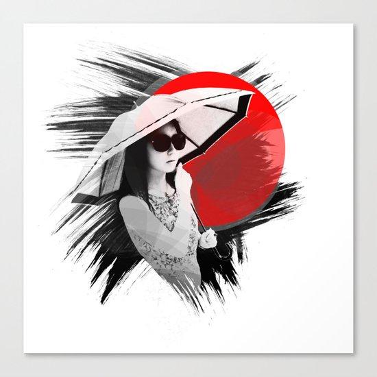Japan - Cosmopolitan girl in Kyoto Canvas Print