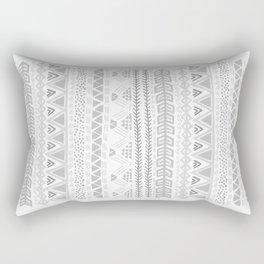 Grey aztec pattern Rectangular Pillow