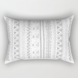 Grey aztec pattern Rectangular Pillow