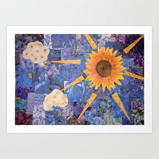 Summer Collage Art Print