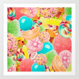 Candy Crush Art Print