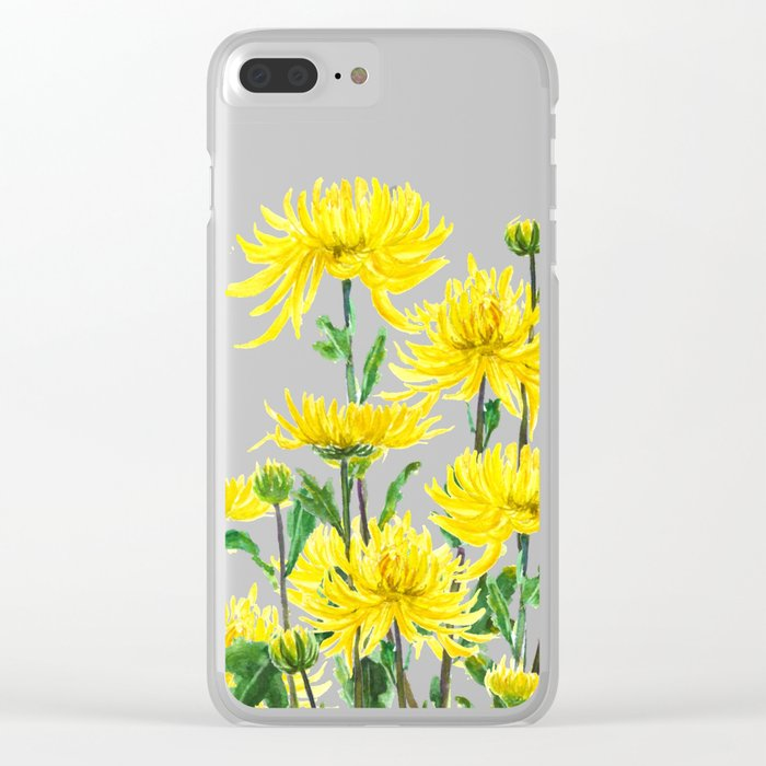 Yellow Chrysanthemums Clear iPhone Case