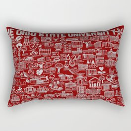 Ohio State University Map Rectangular Pillow