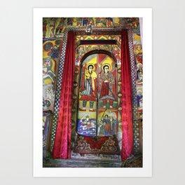 Door of monastery in Ethiopia Art Print