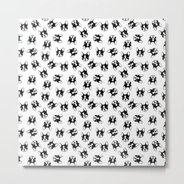 French bulldog pattern Metal Print