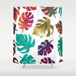 Kiss of Gold, cool calming colors to  change any mood. Shower Curtain
