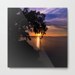 Stono River Sunset Metal Print