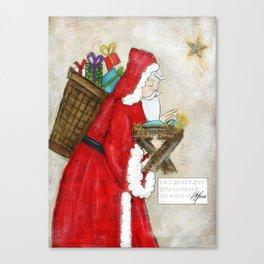 old time santa Canvas Print