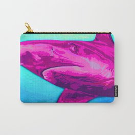 Painted Pink Shark Carry-All Pouch