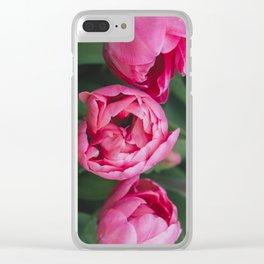 Tulip Trio Clear iPhone Case