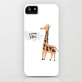 Love Giraffe iPhone Case