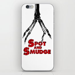 Spot and Smudge logo phone case iPhone Skin