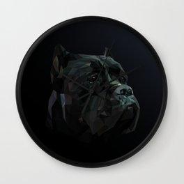 Cane Corso dog low poly. Wall Clock