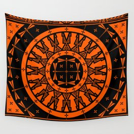 Ancestors (Orange) Wall Tapestry
