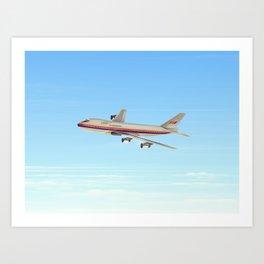 Commercial jet liner Art Print