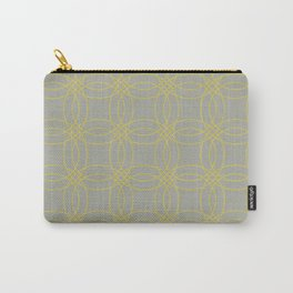 Simply Vintage Link in Mod Yellow on Retro Gray Carry-All Pouch