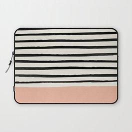 Peach x Stripes Laptop Sleeve