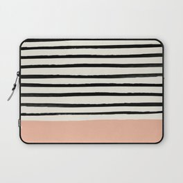 Peach x Stripes Laptop Sleeve