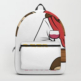 Beer is made by men, wine by God Backpack