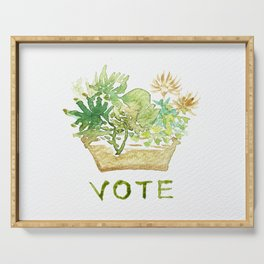 vote - succulents box Serving Tray