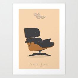 TAKE  a SEAT -  Eames \ Lounge chair Art Print