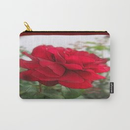 Red Rose Edges Blank P5F0 Carry-All Pouch